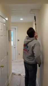 Painting walls, ceiling, & trim