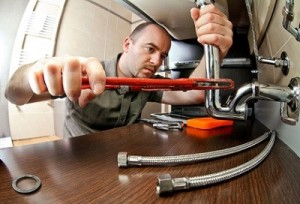 plumbing in kitchen & bathrooms